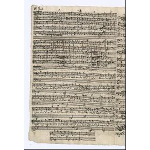 Satz 3 - Recit[ativo]: Auf! du geliebte Lindenstadt, S. 16 (untere Hälfte)