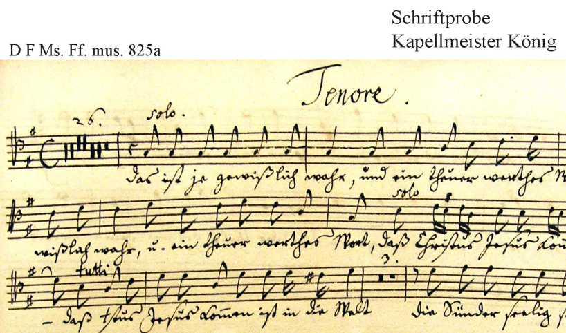Bach digital: Handwriting sample 1
