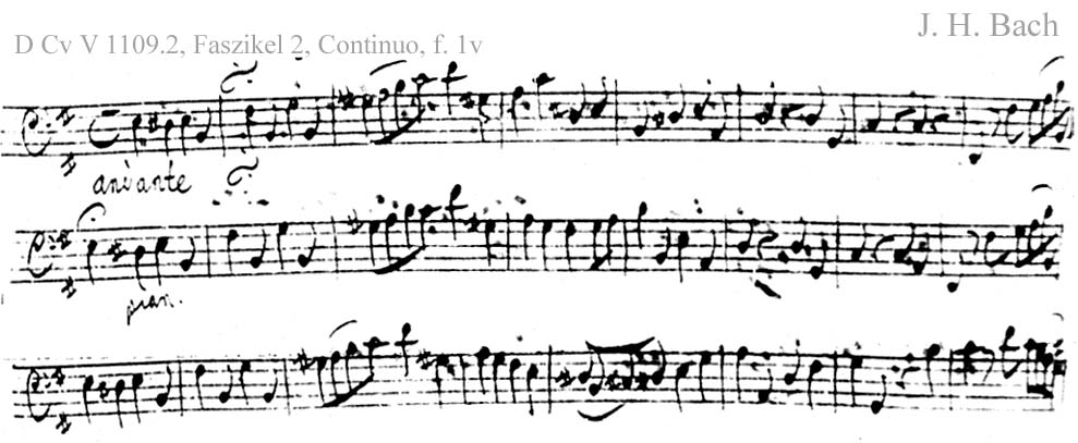 Bach digital: Handwriting sample 1