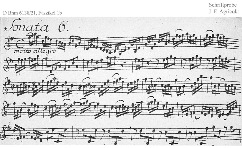 Bach digital: Handwriting sample 4