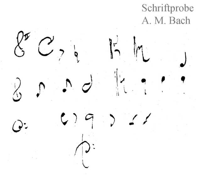 Bach digital: Handwriting sample 2