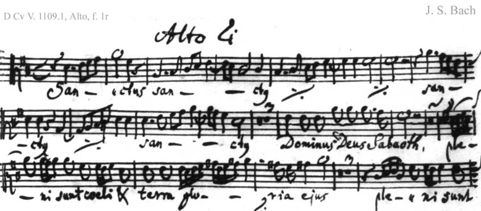 Bach digital: Handwriting sample 3
