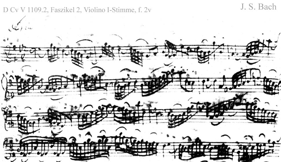 Bach digital: Handwriting sample 5