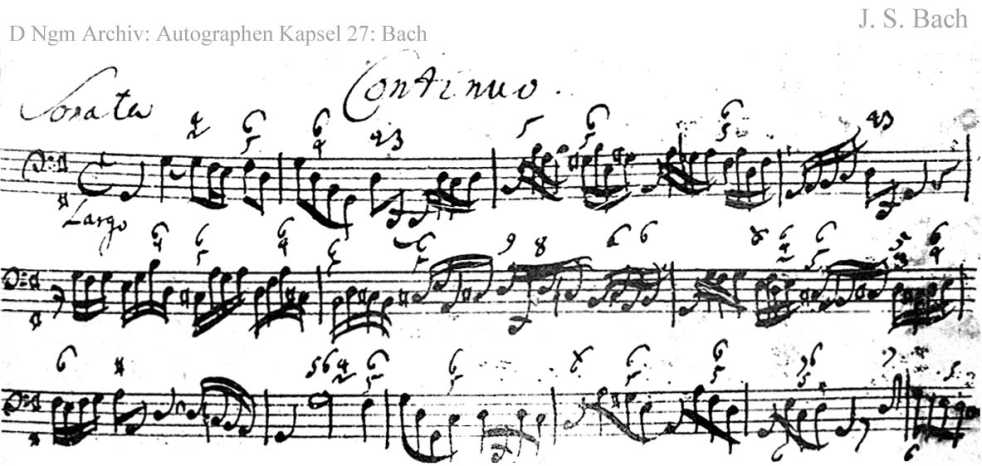 Bach digital: Handwriting sample 9