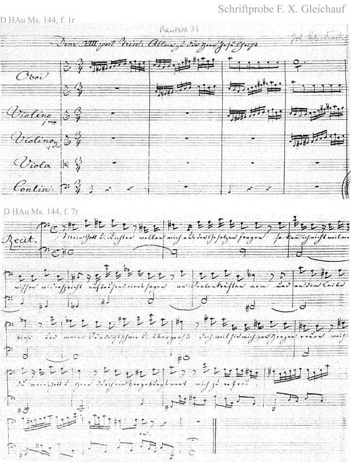 Bach digital: Handwriting sample 5