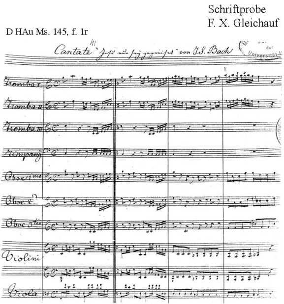 Bach digital: Handwriting sample 6