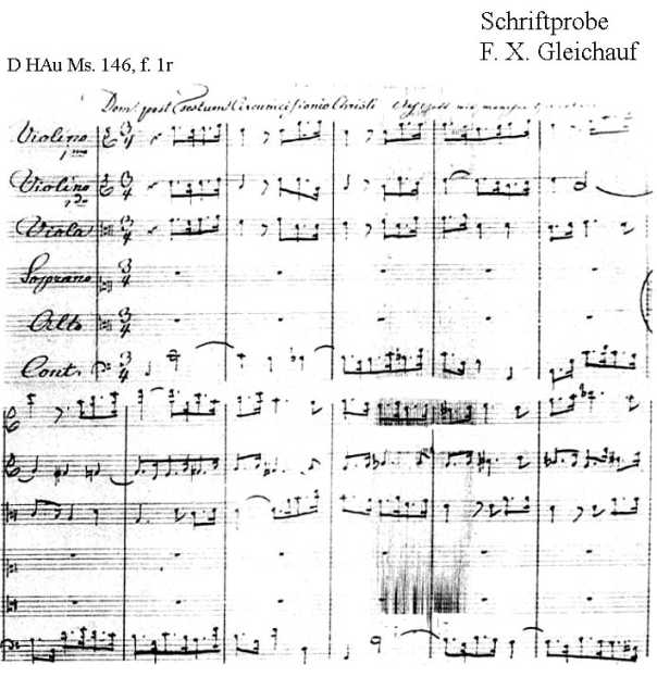 Bach digital: Handwriting sample 7