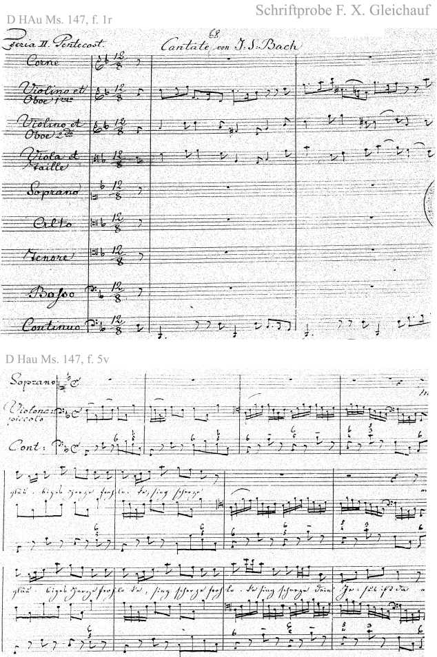 Bach digital: Handwriting sample 8