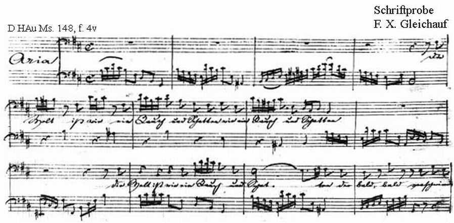 Bach digital: Handwriting sample 9
