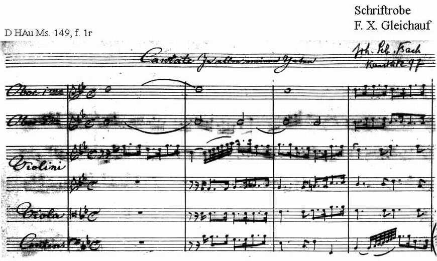 Bach digital: Handwriting sample 10