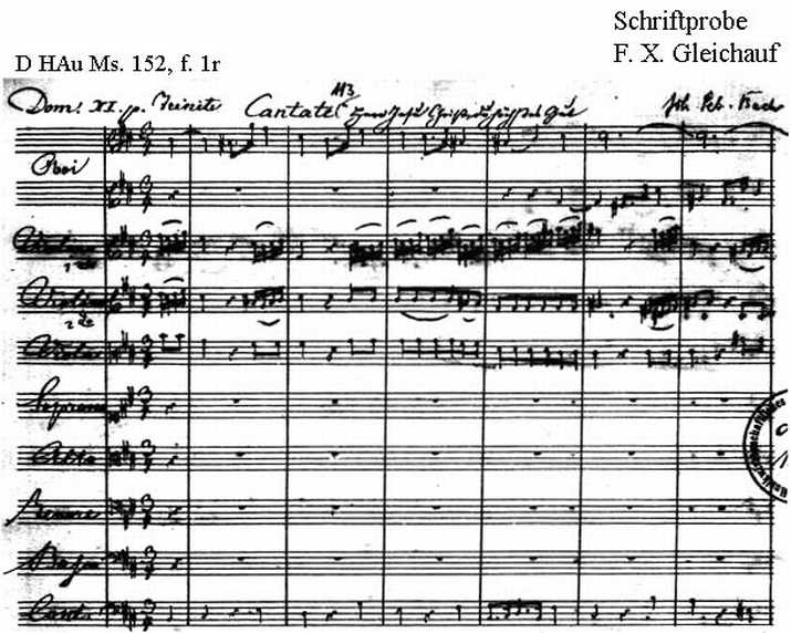 Bach digital: Handwriting sample 13