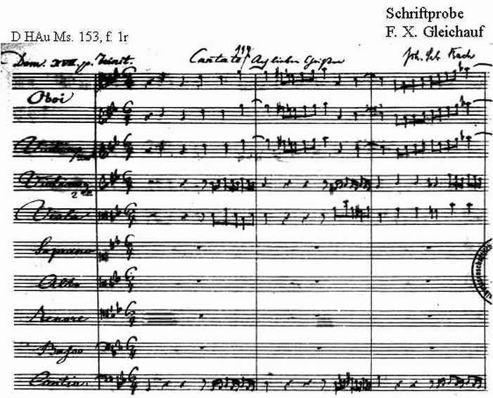 Bach digital: Handwriting sample 14