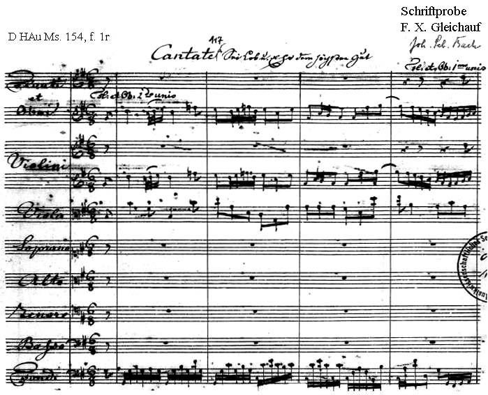Bach digital: Handwriting sample 15
