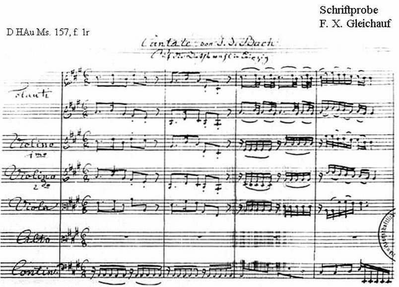 Bach digital: Handwriting sample 17