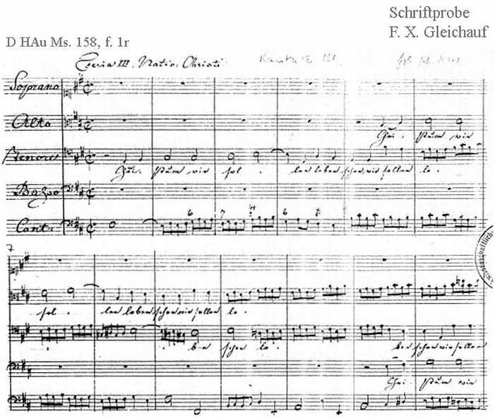 Bach digital: Handwriting sample 18