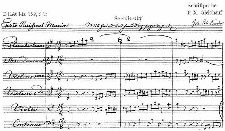 Bach digital: Handwriting sample 19