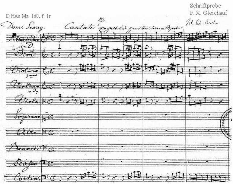 Bach digital: Handwriting sample 20