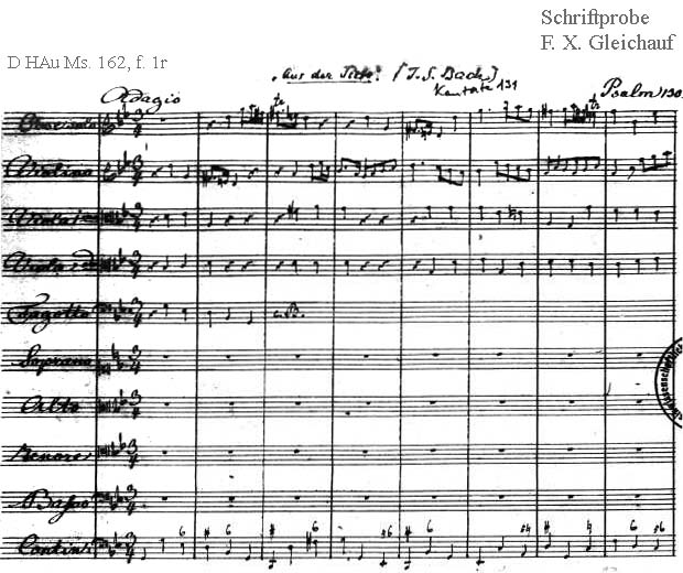 Bach digital: Handwriting sample 22