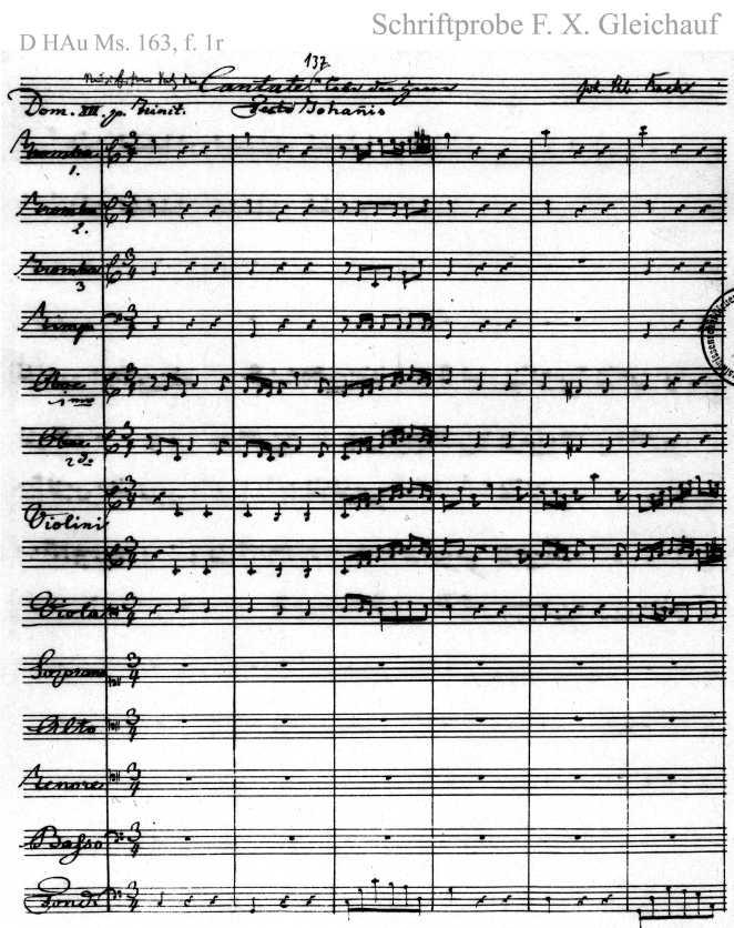 Bach digital: Handwriting sample 23