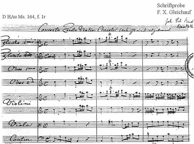Bach digital: Handwriting sample 24