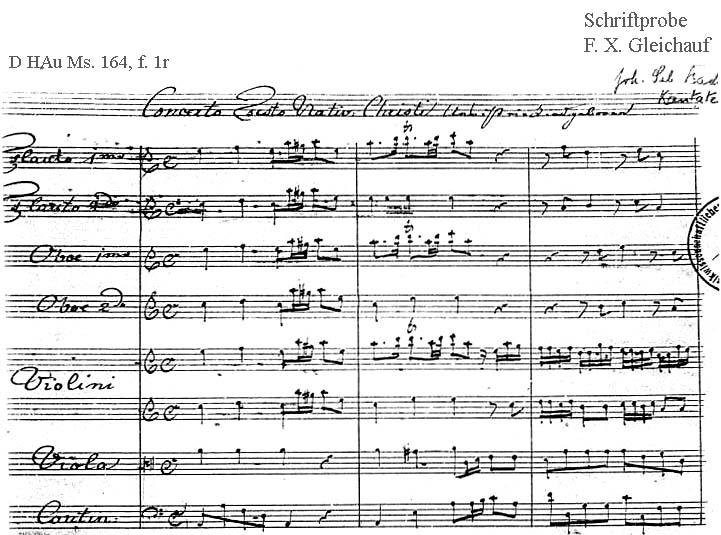 Bach digital: Handwriting sample 25
