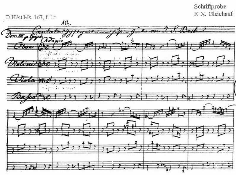 Bach digital: Handwriting sample 27
