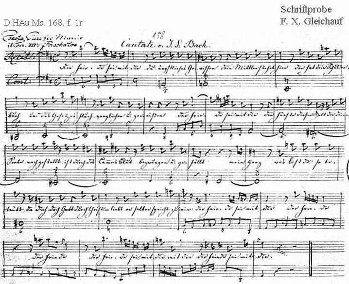 Bach digital: Handwriting sample 28