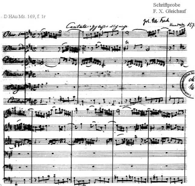 Bach digital: Handwriting sample 29