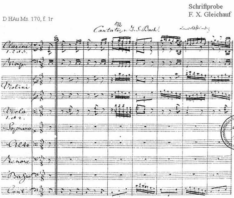 Bach digital: Handwriting sample 30