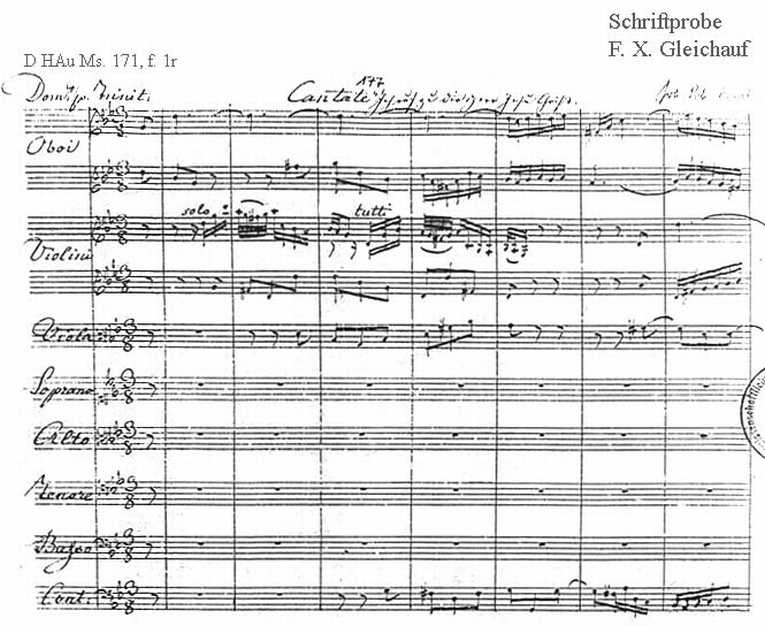 Bach digital: Handwriting sample 31