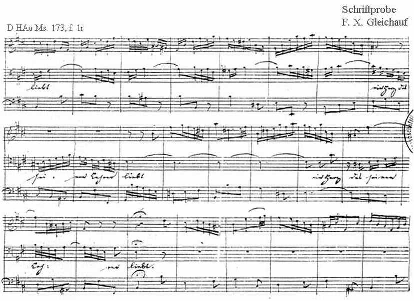 Bach digital: Handwriting sample 33