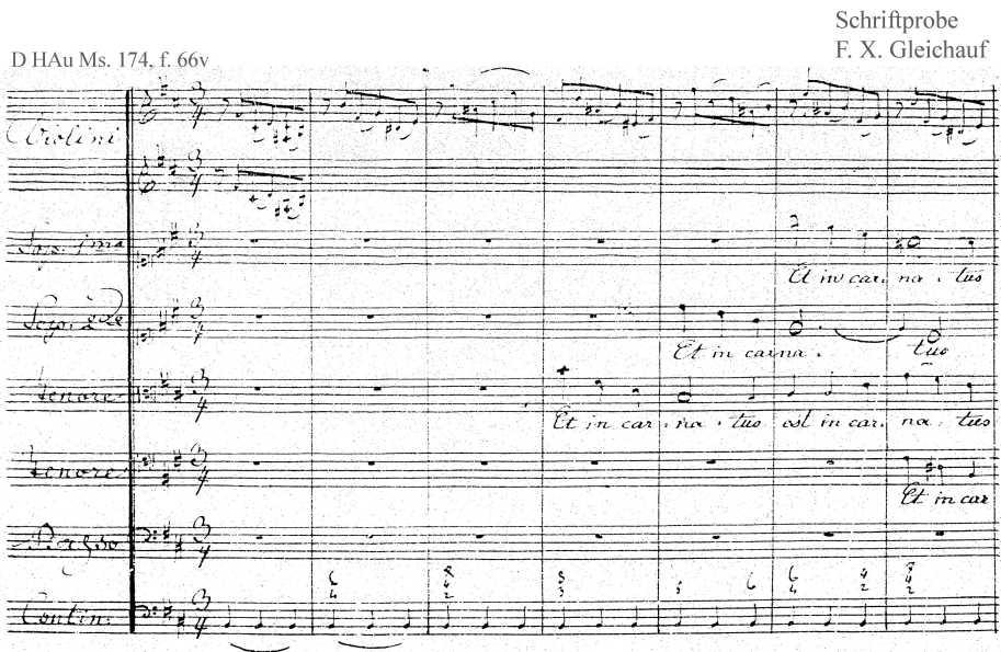 Bach digital: Handwriting sample 34