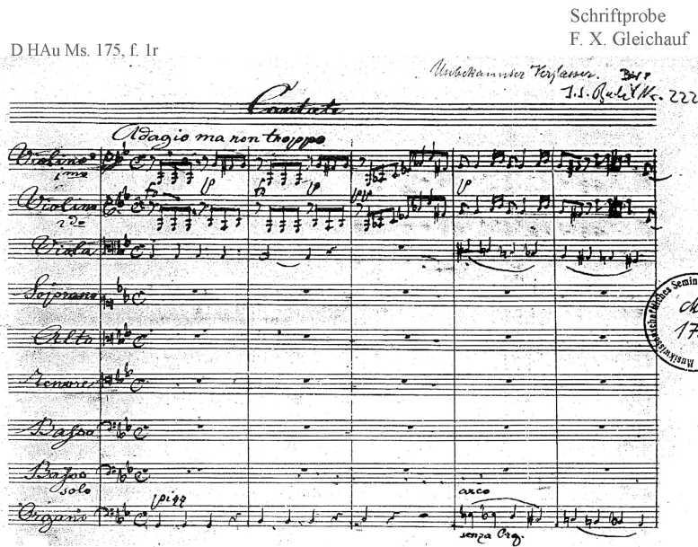 Bach digital: Handwriting sample 35