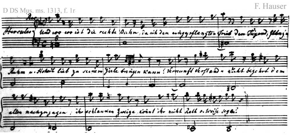 Bach digital: Handwriting sample 4