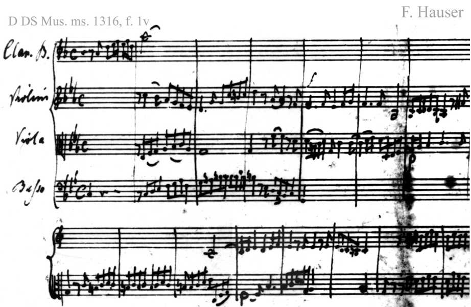 Bach digital: Handwriting sample 6