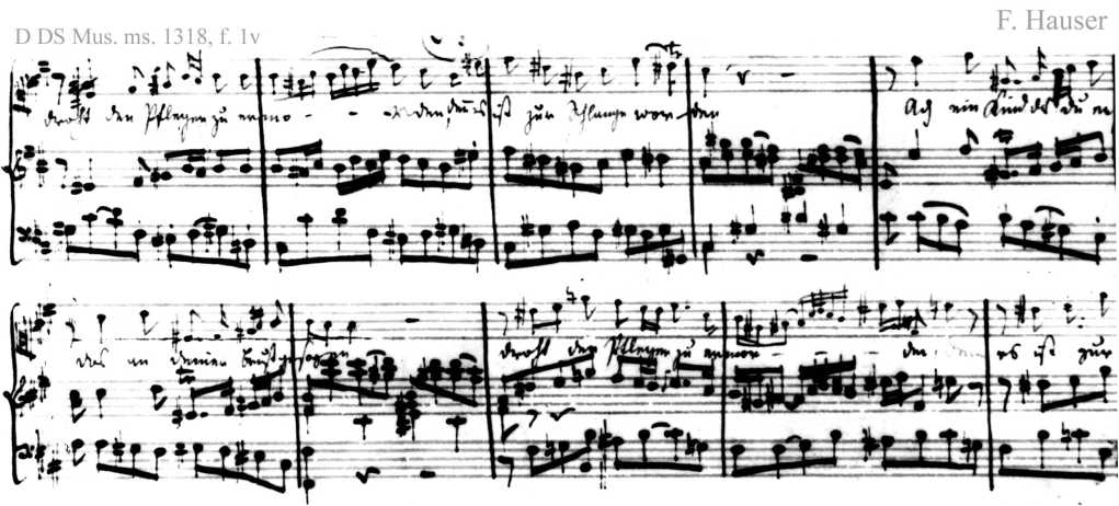 Bach digital: Handwriting sample 7