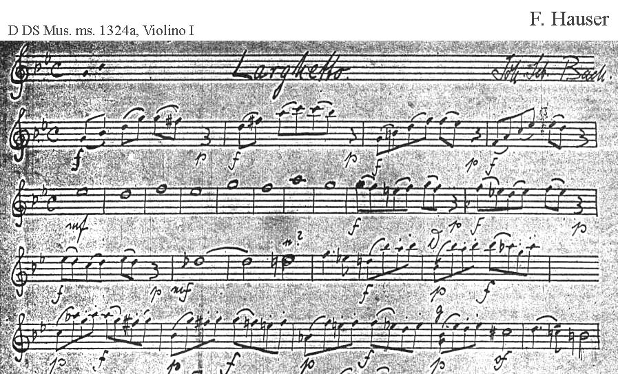 Bach digital: Handwriting sample 10