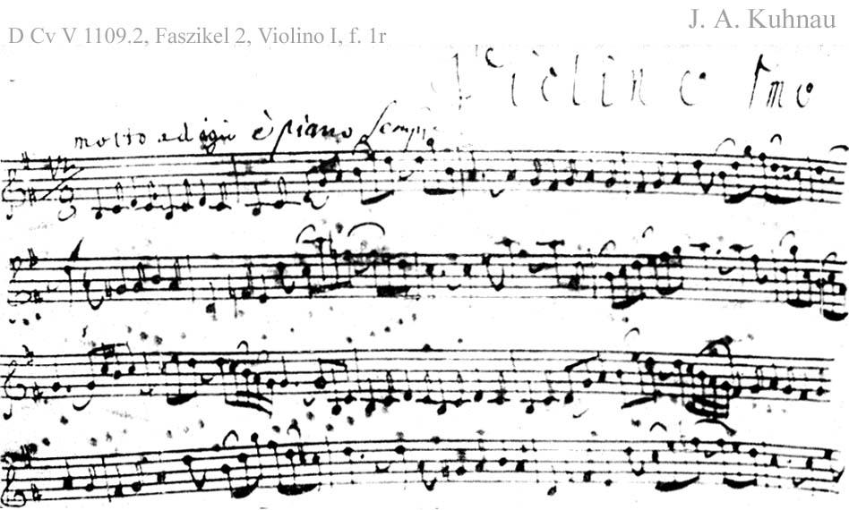 Bach digital: Schriftprobe 2