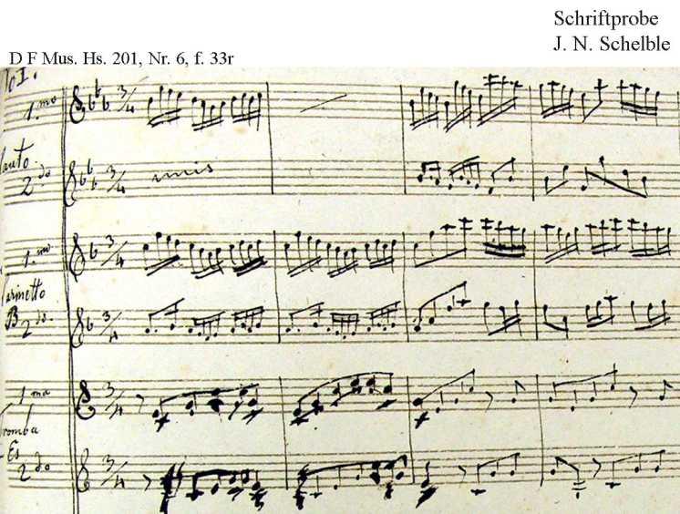 Bach digital: Handwriting sample 3
