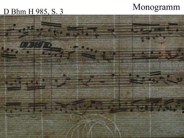 Bach digital: Monogramm 4