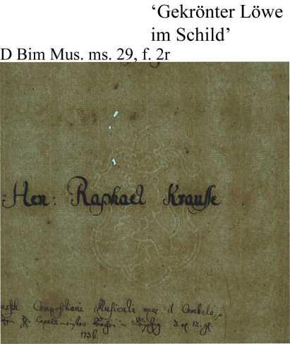 Bach digital: Löwe im Schild