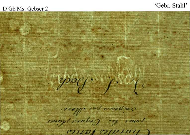 Bach digital: Gebrüder Stahl