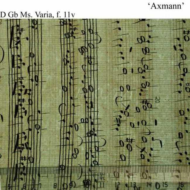Bach digital: Axmann 1