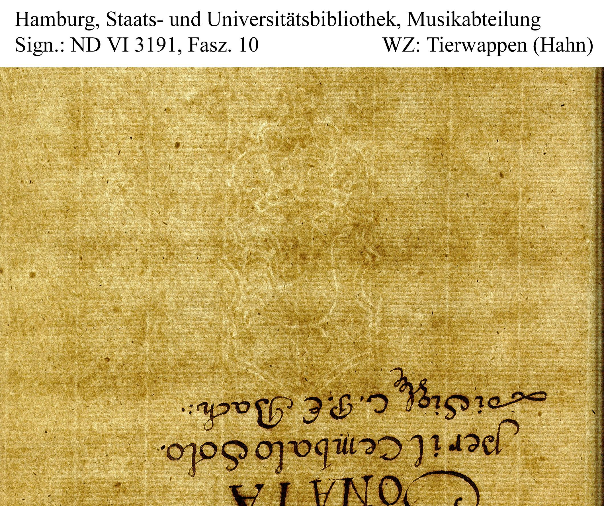 Bach digital: Wappen Hahn dhs08