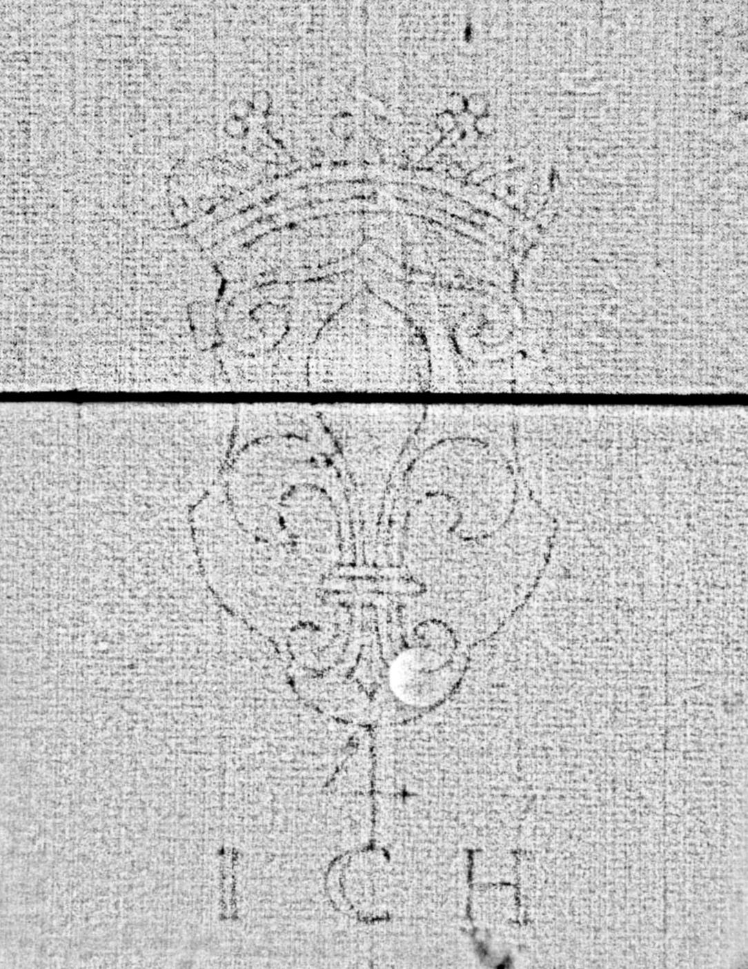 Bach digital: Lilie in bekröntem Schild, ICH / KB (1)