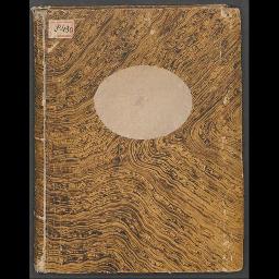 Bucheinband und Vorsatzblatt (recto)